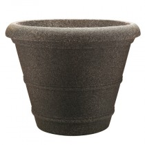 16″ Veranda Planter - Granite Brown