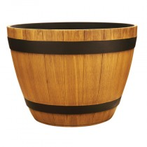 15 inch Wine Barrel - Natural Oak