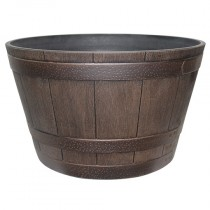 "15.5"" HDR'® Whiskey Barrel, Kentucky Walnut"