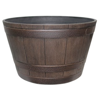 whiskey barrel planter