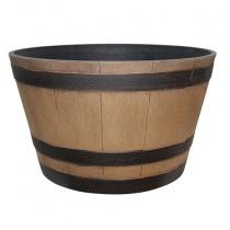 """20.5"""" Wine Barrel - Natural Oak"""