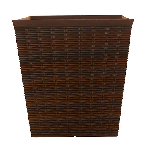 Hdr 12 Square Wicker Look Planter Southern Patio