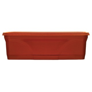 "24"" Medallion Window Box - Terra Cotta"