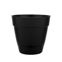 "12"" Newbury Self Watering Planter - Black"