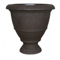 "Dynamic Design'® 17"" Veranda Urn, Granite Brown"