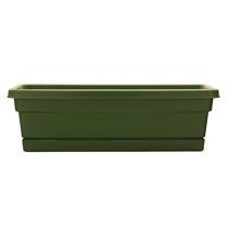 24 inch Rolled Rim Window Box - Fern
