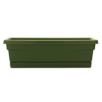 24 inch Rolled Rim Window Box - Fern