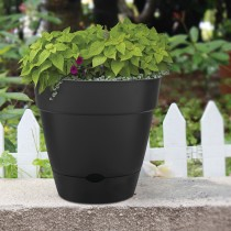 Newbury Self-Watering Planter in Black