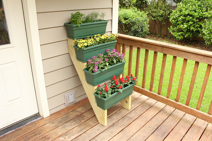 tiered container gardening projects