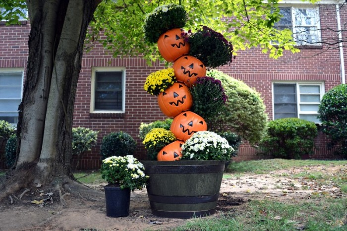 pumpkin topiary gardening projects