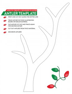 A holiday gift for the gardener southern patio for Rudolph antlers template
