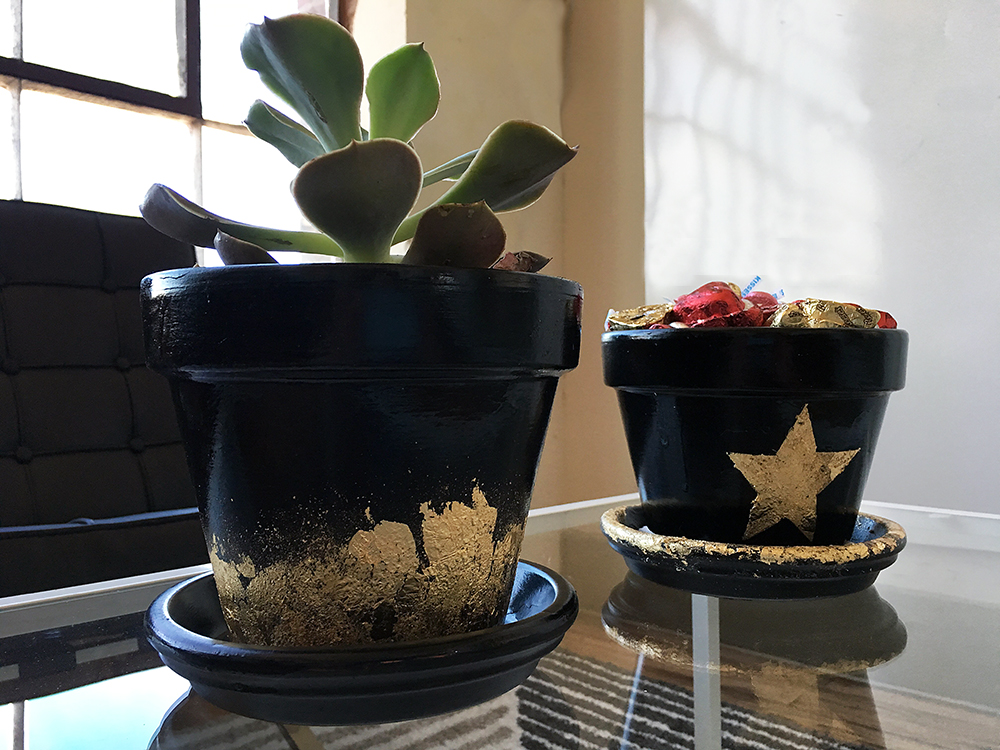 Pot O' Gold with succulents and candy
