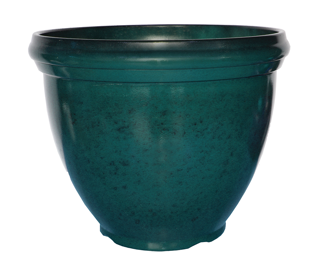 18 Quot Heritage Planter Deep Teal Southern Patio