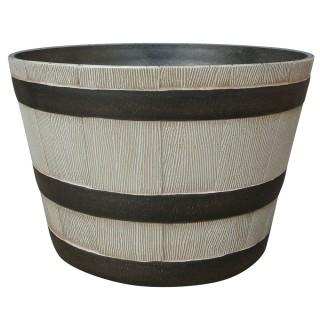 large whiskey barrel