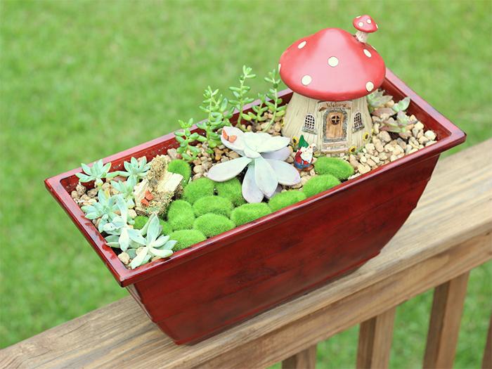 whimsical fairy garden