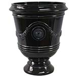 glossy black urn