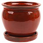 red ceramic pot