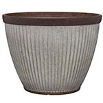 round galvanized pot
