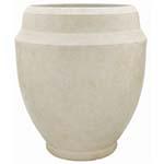white resin pot