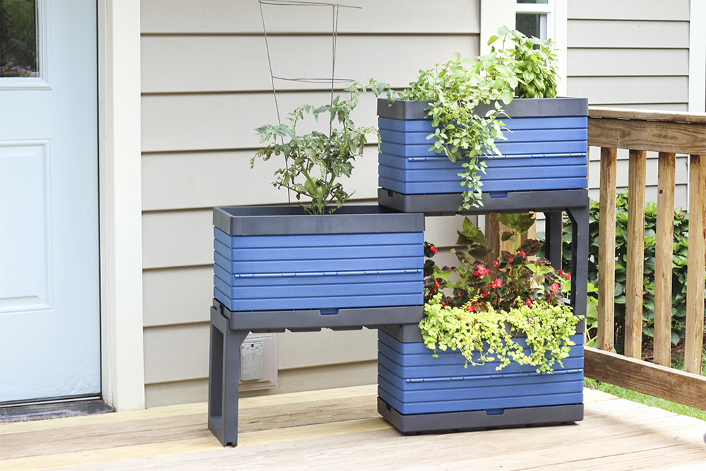 Blue Planter Made For Small Spaces