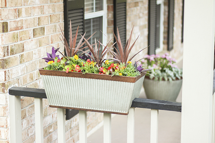 add a little farmhouse style with Westlake Galvanized Metal planters